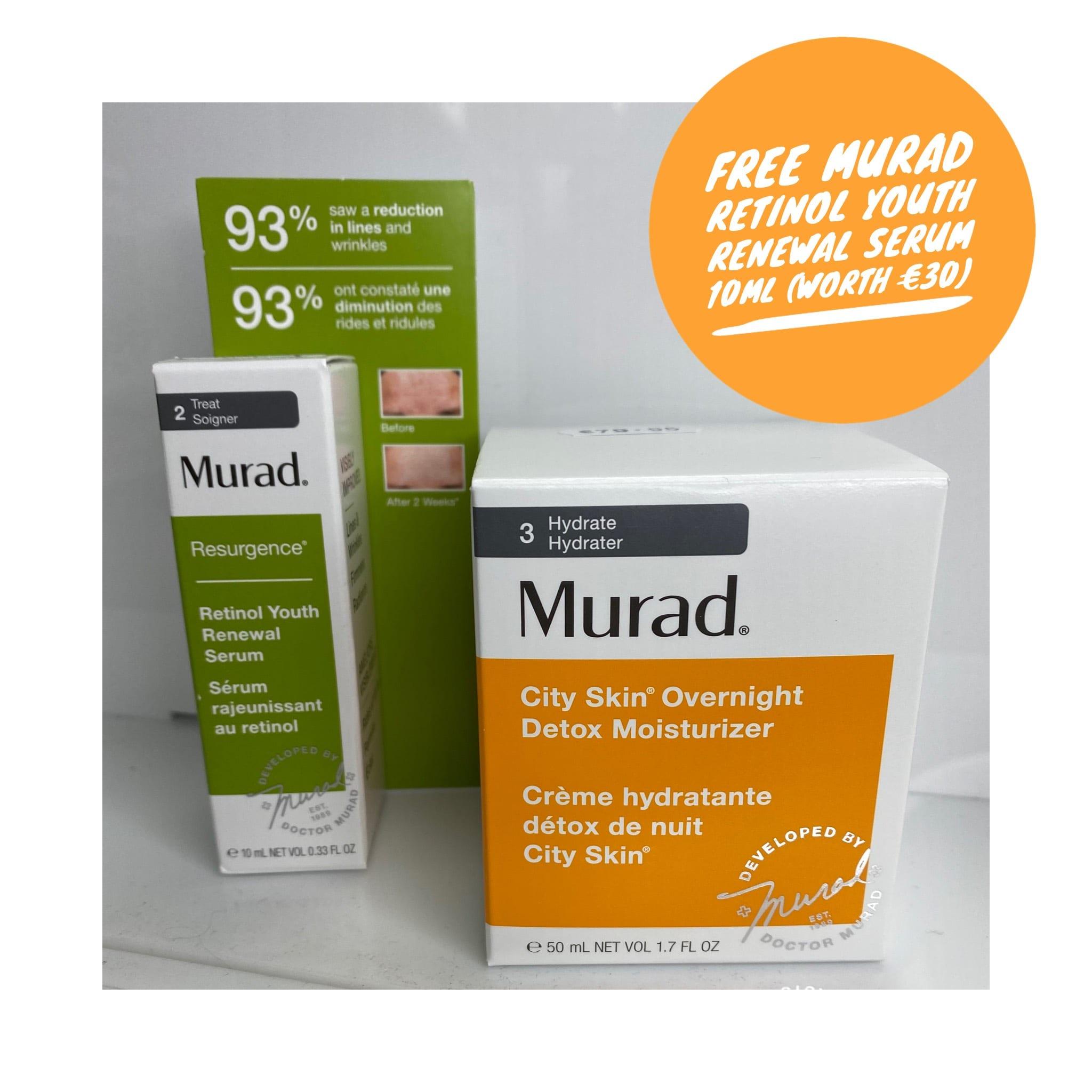 City Skin Overnight Detox Moisturiser (Free Murad Retinol Serum)