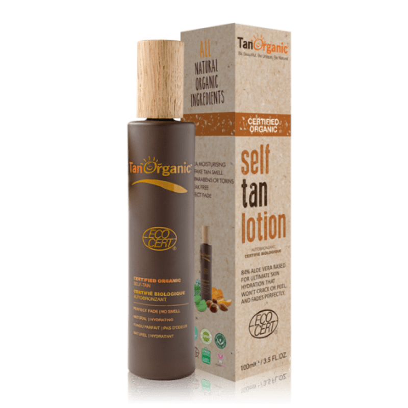 Tan Organic lotion