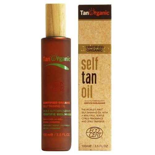 Tan organic oil