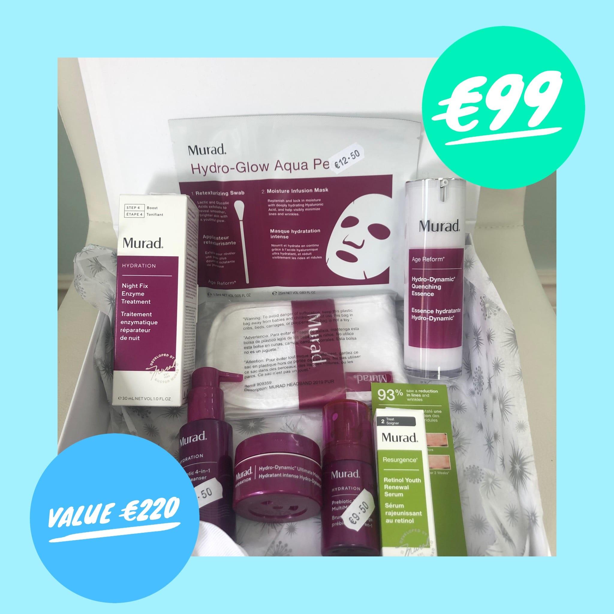 a.    Murad Hydration Value Kit €99